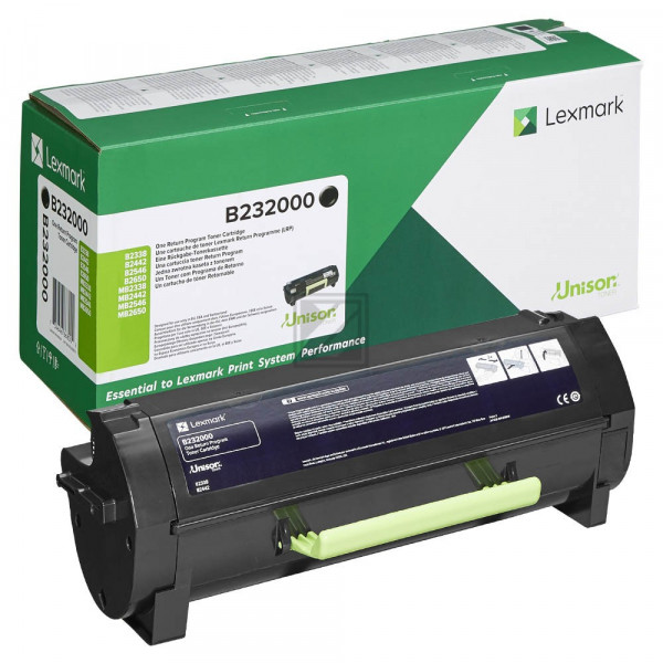Lexmark Toner-Kit Return Program schwarz (B232000)