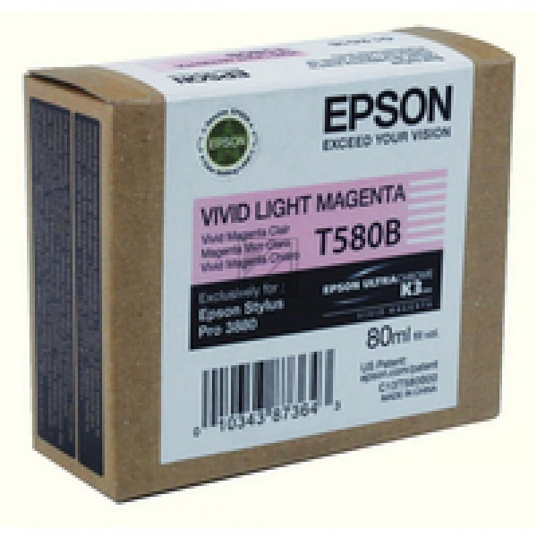 Epson Tintenpatrone Ultra Chrome K3 magenta light (C13T580B00, T580B)