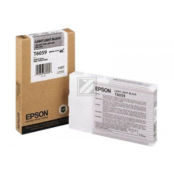 Epson Tintenpatrone Ultra Chrome K3 schwarz light, light (C13T605900, T6059)